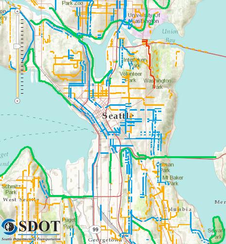 Georgetown Seattle Map.City Launches New Interactive Bike Map Bike Plan Survey Seattle