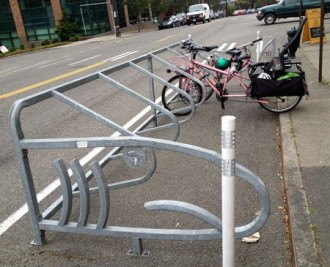 Essential Baking Co bike corral